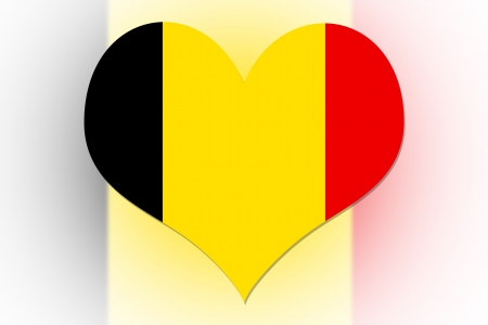Belgian Flag in the shape of a heart photo
