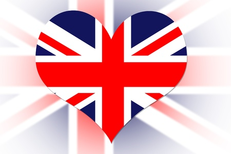 English Flag in the shape of a heart photo