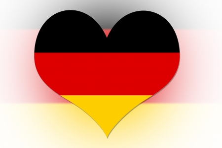 German Flag in the shape of a heart photo