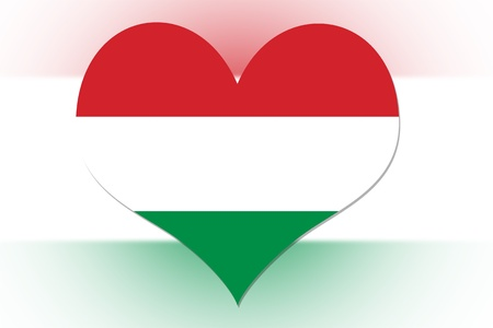 Hungarian Flag in the shape of a heart photo