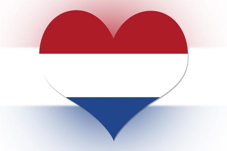 Dutch Flag in the shape of a heart photo