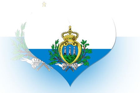 San Marino Flag in the shape of a heart photo