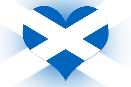 Scottish Flag in the shape of a heart photo