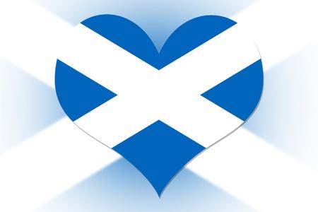 scottish flag: Scottish Flag in the shape of a heart Stock Photo