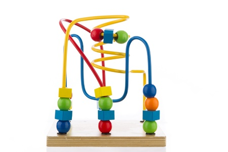 Colorful Spiral Toy on White Background photo