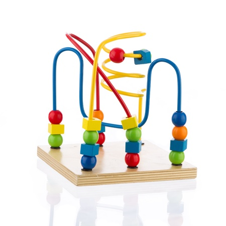 Colorful Spiral Toy on White Background Stock Photo - 19558447