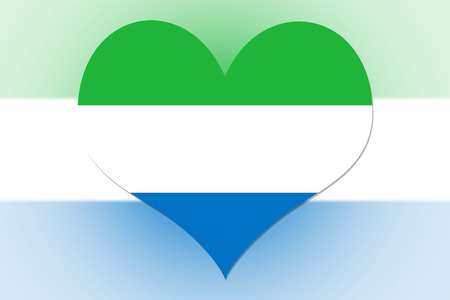 Sierra Leone Flag in the shape of a heart photo