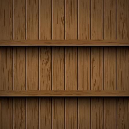 wooden shelves: vector wooden shelves background