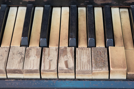 hymnal: Vintage antique piano keyboard