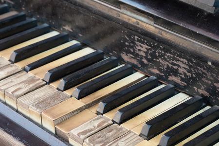 hymnal: Vintage antico tastiera del pianoforte