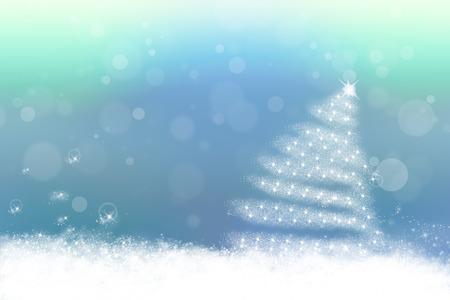 Sweet blue pastel christmas background