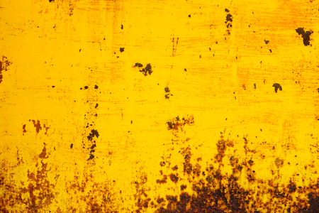 Abstract Yellow Matal Rust Texture Background.