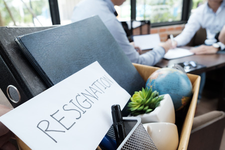 Business Change of job, unemployment, resign concept. Фото со стока - 86446412