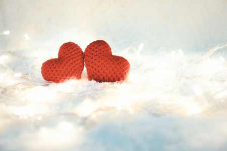 Two hearts and Love Valentines day.