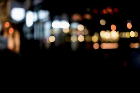 Blur bokeh background of city night light