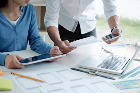 Programmer and Web designer, UX UI designer planning application for mobile phone.