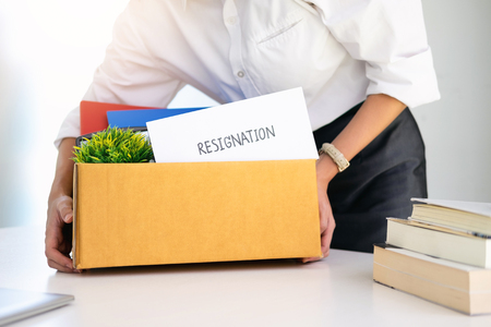Business Change of job, unemployment, resigned concept. Stock Photo