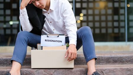 Business Change of job, unemployment, resigned concept. Stockfoto