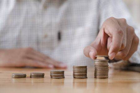 Business and money saving concept. Savings money concept for Investing in finance and banking.