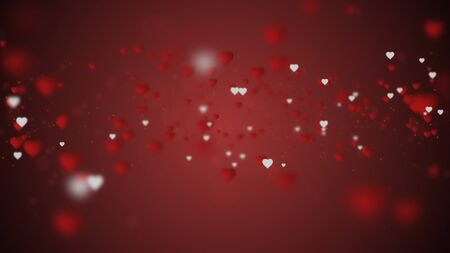Valentines's day concept. Abstract background with hearts.