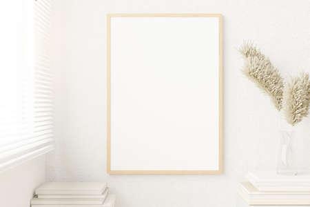 Mockup blank photo frame for your design. 3D rendered.