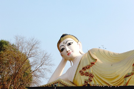 eye: Buddha phra that su tone temple At Phrae, Thailand