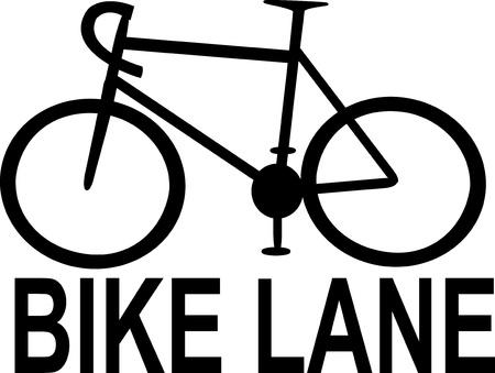 lane: bike lane sign