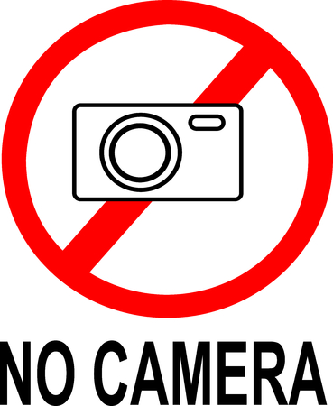 no cameras allowed: No camera sign, to tell others for not using their camera