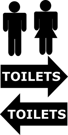 gent's: toilets sign for men and women