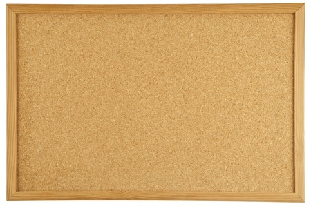 cork board: A cork message bulletin board