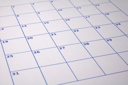空白のカレンダー 写真素材