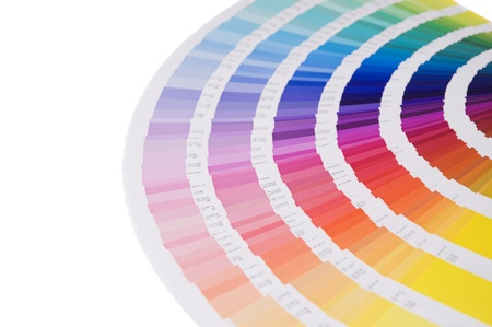 printing out: a color formula guide Stock Photo