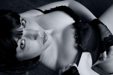 Beautiful sensual woman in lingerie