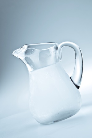 jug: Pitcher filled with cool fresh water
