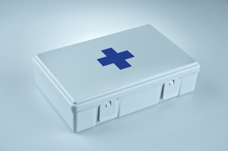 First aid kit for emergencies Stock Photo