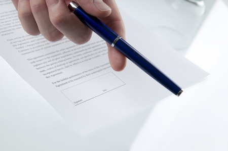 契約に署名する準備ができて 写真素材