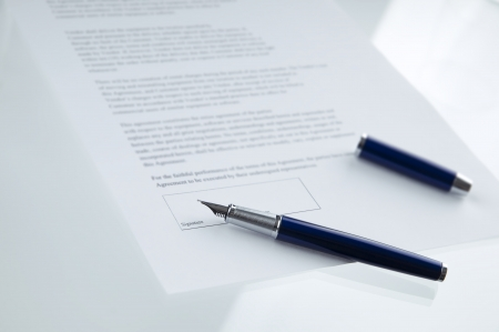 A contract ready to be signed Stock Photo - 10268507