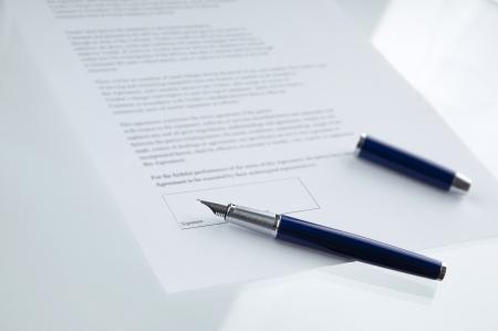 firmando: Un contrato listo para ser firmado