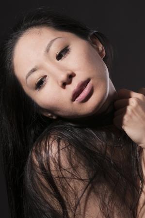 アジアの美しい肖像画