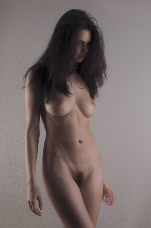 nude: Beautiful female posing art nude