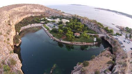 bird 's eye view: Vouliagmeni Lake,Athens