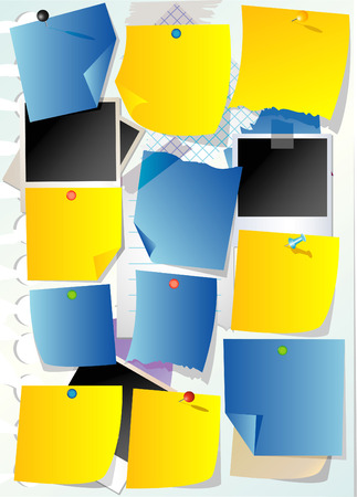 abstrakt paper notes Stock Vector - 5566118