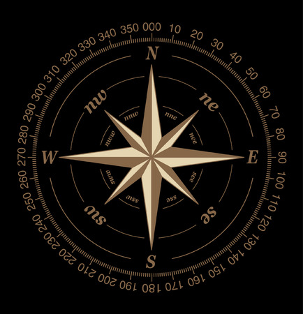 compass rose: compass rose Illustration