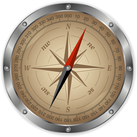 Vector metal compass Vector