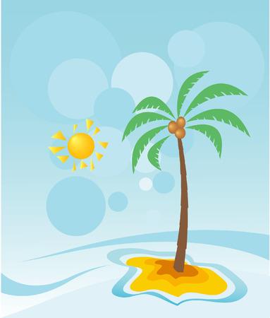 Apstrakt landscape with palm Vector
