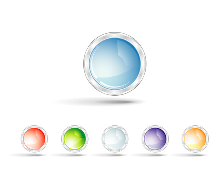 glossy metal  buttons Stock Vector - 5600586