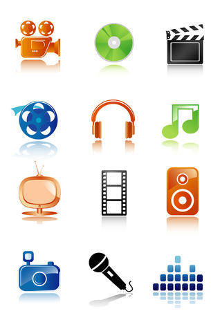 Simple multimedia icons