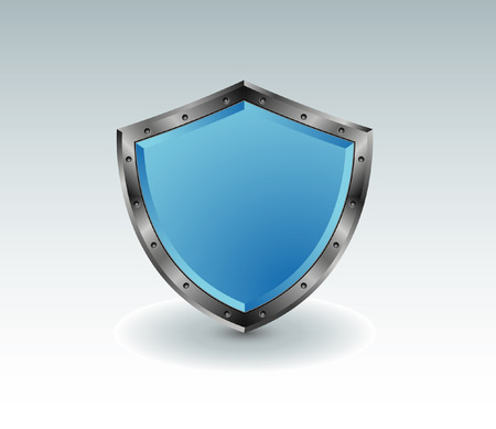 Blue shield with shadow Stock Vector - 5610320