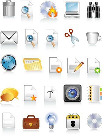 document and office icons Stock Vector - 5610385