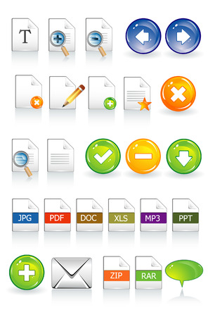 documents icons Stock Vector - 5610361